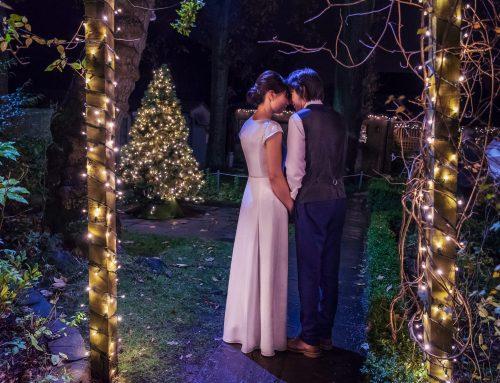 Christmas Weddings using Fairy Lights