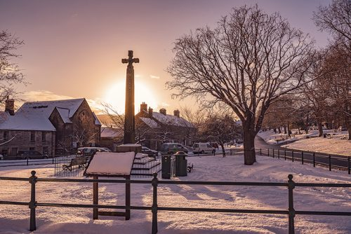 The Market Cross in Winter - Rothbury Northumberland