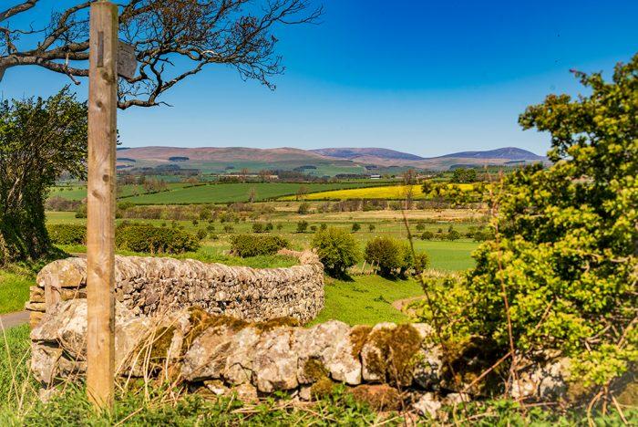 The Cheviot Hills from Thropton Northumberland