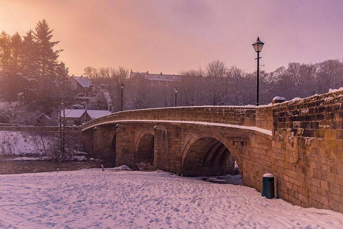 A Misty Sunrise by the River Coquet, Rothbury